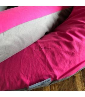 TAUPE FUCHSIA - Coussin de maternité et housse