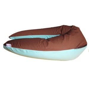 coussin maternité choco-turquoise